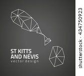 st. kitts and nevis black... | Shutterstock .eps vector #434750923