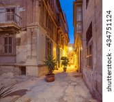 ancient streets in vittoriosa ... | Shutterstock . vector #434751124