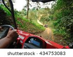 driving a small but fast buggy...   Shutterstock . vector #434753083