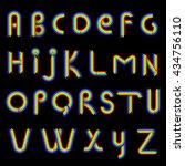 rainbow alphabet | Shutterstock . vector #434756110
