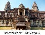 Front View Of Angkor Wat Templ...