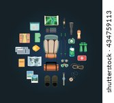 vector modern flat style icons... | Shutterstock .eps vector #434759113