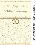 golden wedding invitation... | Shutterstock .eps vector #434765398