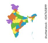 india map with federal states.... | Shutterstock .eps vector #434765899