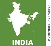 india map on green background.... | Shutterstock .eps vector #434765914