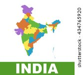 india map with federal states.... | Shutterstock .eps vector #434765920