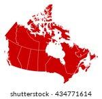 map   canada | Shutterstock .eps vector #434771614