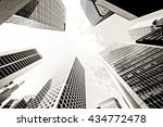 abstract buildings background | Shutterstock . vector #434772478
