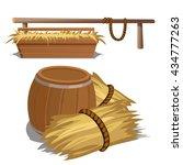 hay to feed livestock. vector. | Shutterstock .eps vector #434777263