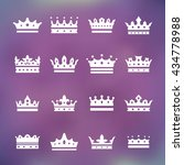 white silhouette of a crown...   Shutterstock .eps vector #434778988