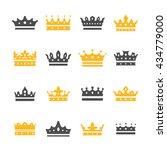 elegant crown icons set....   Shutterstock .eps vector #434779000