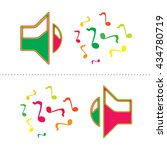 colourful speaker icon with... | Shutterstock .eps vector #434780719