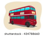 red traditional double decker... | Shutterstock .eps vector #434788660
