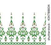 seamless paisley pattern ... | Shutterstock . vector #434788834