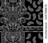 seamless paisley pattern ... | Shutterstock . vector #434788870