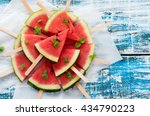 watermelons slices   Shutterstock . vector #434790223