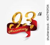 anniversary emblems 93... | Shutterstock .eps vector #434790934