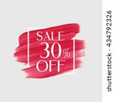 sale 30  off sign over grunge... | Shutterstock .eps vector #434792326