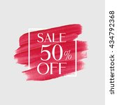 sale 50  off sign over grunge... | Shutterstock .eps vector #434792368
