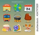 funny travel icons set 4 | Shutterstock .eps vector #434797009