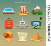 funny travel icons set 2   Shutterstock .eps vector #434797699