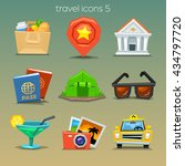funny travel icons set 5 | Shutterstock .eps vector #434797720