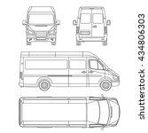 car template. white blank... | Shutterstock .eps vector #434806303