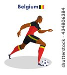 belgium nationality footballer ... | Shutterstock .eps vector #434806384