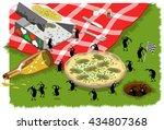 Picnic Ants Steal A Mushroom...