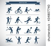 sports icon set | Shutterstock .eps vector #434807740