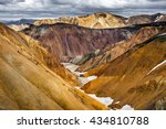 colorful valley in rhyolite... | Shutterstock . vector #434810788