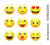 icons with emotions. vector... | Shutterstock .eps vector #434816344