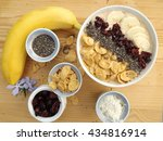 smoothie bowl | Shutterstock . vector #434816914