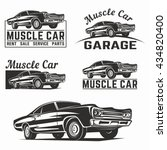 muscle car vector illustration | Shutterstock .eps vector #434820400