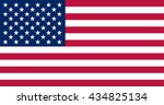 american flag original colors... | Shutterstock .eps vector #434825134