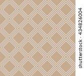 seamless beige simple diagonal... | Shutterstock . vector #434826004