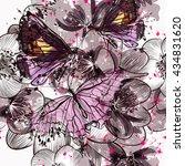 beautiful seamless pattern or... | Shutterstock .eps vector #434831620