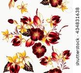 seamless vector wallpaper... | Shutterstock .eps vector #434831638