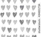 vector heart pattern. red and... | Shutterstock .eps vector #434831734