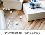 packing and moving supplies....   Shutterstock . vector #434832418