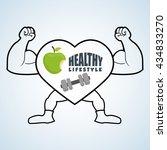 healthy lifestyle design....   Shutterstock .eps vector #434833270