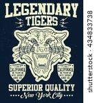 new york city tiger  superior...   Shutterstock .eps vector #434833738
