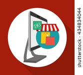 shopping design. marketing icon.... | Shutterstock .eps vector #434834044