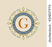 vector luxury elegant vector... | Shutterstock .eps vector #434837974