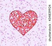 heart shape made of little... | Shutterstock .eps vector #434839924