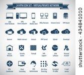 vpn icon set   24 icon set  ... | Shutterstock .eps vector #434841010