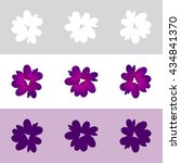 vector seamless floral pattern... | Shutterstock .eps vector #434841370