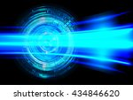 digital data background blue... | Shutterstock .eps vector #434846620