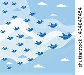 flying birds | Shutterstock .eps vector #434847454