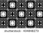 ornament with black and white... | Shutterstock . vector #434848273